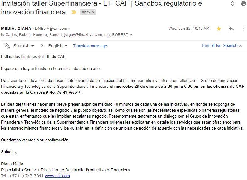 anuncio sandbox regulatorio